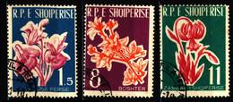 Albania 1961 Mi 633-635 Medicinal Plants CTO - Albanie