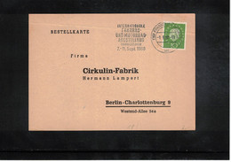 Germany / Deutschland 1953 Cycling International Bicycle And Motorbike Exhibition Frankfurt Interesting Cover - Ciclismo