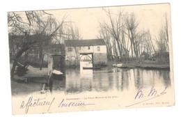 "Postcard Vintage Ephemera 1903 Used ""Dennemont""  Le Vieux Moulin Vu En Aval See Description AA - Sin Clasificación"