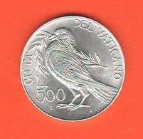 Vaticano 500 Lire 1993 Pacem In Terris Vatikan State  Papa Wojtyla Silver Coin - Vaticano (Ciudad Del)