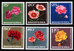 Albania 1968 Mi 1247-1252 Carnations MLH - Albanie
