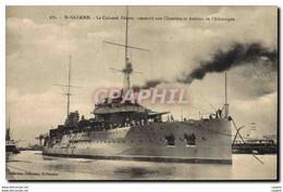 CPA Bateau De Guerre ST Nazaire Le Cuirasse Diderot - Guerra