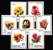 Albania 1968 Mi 1277-1283 Flowers NG - Albanie