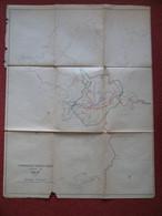 Carte Itinéraires Touristiques Autour De DALAT Dà Lat Vietman Viêt Nam Indochine Années 40's Très Détaillée - Other
