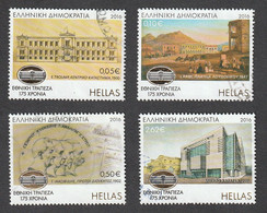 Greece 2016 175 Years Since The Founding Of The National Bank Of Greece Complete Set Used W0422 - Usados