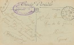 """1919 ALGERIE Cachet """" BASE AERIENNE DE L'AFRIQUE DU NORD """" HUSSEIN-DEY ALGER CARTE """" LA DEFENSE MOBILE """" - Militärstempel Ab 1900 (ausser Kriegszeiten)"""