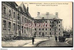 CPA VERDUN Bombard� Palais De Justice Et Caserne St-Paul Militaria - Sonstige