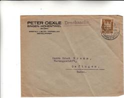 Singen, Cover 1925 - Lettres & Documents