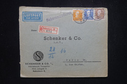 DANEMARK - Enveloppe Commerciale En Recommandé De Copenhague Pour La France En 1944 Avec Contrôle Postal - L 97151 - Covers & Documents
