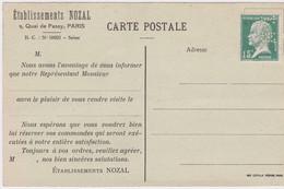 FRANCE - PASTEUR PERFORE SUR CARTE POSTALE ETABL. NOZAL PARIS NON VOYAGE - Perfins