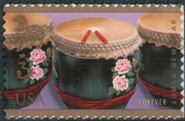 USA, 2014, Mi 5039, Chinese New Year-Year Of The Horse, Drums, 1v, MNH - Musica