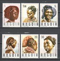 Angola 1987 Mi 758-763 MNH TRADITIONAL HAIR DRESSING - Angola