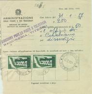 AMMENDA DI £.50-UFFICIO CORCHIANO(VITERBO) PER DISSERVIZI-1957 -EUROPA (s803) £.25x2- - 1946-60: Marcophilia