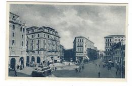 10.147 - PADOVA PIAZZA GARIBALDI ANIMATA TRAM 1930 CIRCA - Padova