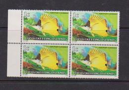 COCOS ( KEELING ) ISLANDS    1979    Fish   1c  Forceps  Fish    Block  Of  4    MNH - Cocos (Keeling) Islands