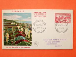 FRANCE 1er JOUR 1961-N°1294 Deauville Sur Enveloppe.  Superbe - 1960-1969