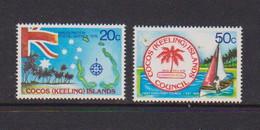 COCOS ( KEELING ) ISLANDS    1979    Inauguration  Of  Postal  Service    Set  Of  2    MNH - Cocos (Keeling) Islands