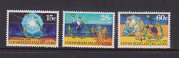 COCOS ( KEELING ) ISLANDS    1980    Christmas    Set  Of  3    MNH - Cocos (Keeling) Islands