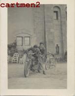 CARTE PHOTO : MOTO HARLEY-DAVIDSON BIPLACE MOTARD CYCLOMOTEUR - Motos