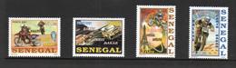 MOTOR CYCLES - SENEGAL - 2001- 23RD PARIS DAKAR RALLY SET OF 4  MINT NEVER HINGED - Motorfietsen