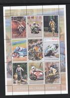 MOTOR CYCLES  - MADAGASCAR - 1999 - MOTORBIKE SPORTS SHEETLET OF  9  MINT NEVER HINGED - Motorfietsen
