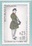France - Phil@poste - Carte Pré-timbrée (2021) Journée Du Timbre 1967, Facteur Du Second Empire - Documentos Del Correo