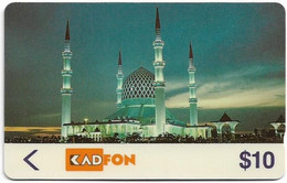 Malaysia - Kadfon (GPT) - Mosque - 5MSTC - 05.1991, 10$, 100.000ex, Used - Maleisië