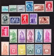 1946** Zonder Scharnier. Volledige Jaargang 23 Zegels,zonder Zegels Met Opdrukken.OBP:67,25 Euro. - Full Years