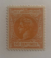 1905- ALFONSO XIII. EDIFICIL 27 * NUEVO CON FIJASELLO - Elobey, Annobon & Corisco