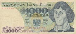 BANCONOTA POLONIA 1000 VF (HC1837 - Poland