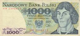 BANCONOTA POLONIA 1000 VF (HC1838 - Poland