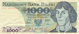 BANCONOTA POLONIA 1000 VF (HC1893 - Poland
