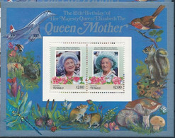 Tuvalu Vaitupu Mushroom Champignon Concorde Queen Mother Ecureuil Souvenir Sheet - Champignons