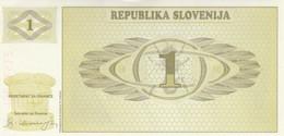 BANCONOTA SLOVENIA 1 UNC (HC2078 - Slovenia