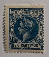 1905- ALFONSO XIII. EDIFIL 28 * NUEVO CON FIJASELLO - Elobey, Annobon & Corisco