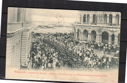Military Troops Johnson Pier In Singapore ± 1900 (si4-23) - Malaysia