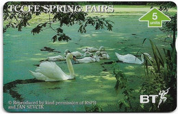 UK - BT - L&G - BTG-663 - TCCFE Spring Fairs '96 - Swans - 605A - 5Units, 1.000ex, Mint - BT General Issues