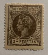 1905- ALFONSO XIII. EDIFIL 30 * NUEVO CON FIJASELLO - Elobey, Annobon & Corisco