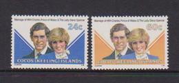 COCOS ( KEELING ) ISLANDS    1981     Royal  Wedding    Set  Of  2    MNH - Cocos (Keeling) Islands