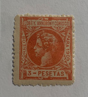1905- ALFONSO XIII. EDIFIL 31 * NUEVO CON FIJASELLO - Elobey, Annobon & Corisco