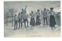 28016 - Leysin Sport En Skis Hommes Et Femmes 1907 - VD Vaud
