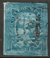 Mexico 1866 Sc 21  Used Type V Large Thins - Mexico