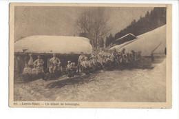 28017 - Leysin Sport Un Départ De Bobsleighs 1910 - VD Vaud