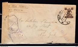 Censuur Brief Van Raf Post Naar New York Passed DHB/20 R.A.F. Censor 508 - Covers & Documents