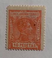 1907- ALFONSO XIII. EDIFIL 50 * NUEVO CON FIJASELLO - Elobey, Annobon & Corisco