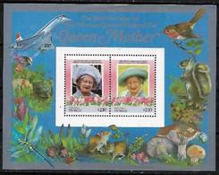 Tuvalu Nanumaga Mushroom Champignon Concorde Queen Mother Ecureuil Souvenir Sheet MNH - Champignons
