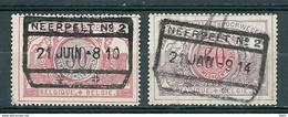 TR 35 + 37 Gestempeld NEERPELT N° 2 - 1895-1913
