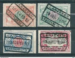 TR 32 + 34 + 38 + 42 Gestempeld LANAEKEN FACTAGE N° 2 - 1895-1913