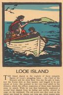 Looe Island Rowing Boat Discovery Cornwall Rare 1970s Postcard - Sin Clasificación