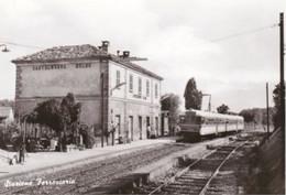 CASTELNUOVO BELBO - ASTI - STAZIONE FERROVIARIA CON TRENO - FERROVIE - TRASPORTI - Asti